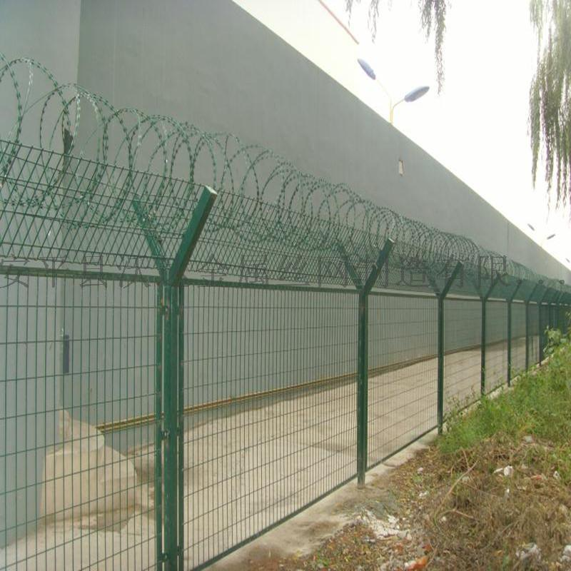 围界钢网围墙护栏 Y型安全护网 围墙防护围栏