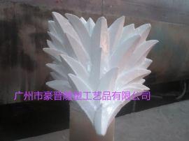 厂家玻璃钢雕塑叶子柱头雕塑  造型雕塑 装饰建材的设计、制作、安装为一体化的雕塑厂家直销