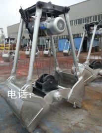 D20容积2立方中型不锈钢马达抓斗酒厂酒槽用不锈钢马达抓斗