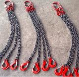 起重鏈條吊索具 鏈條成套吊索具 5T*4腿*2m 四腿鏈條索具 可定製