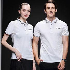 POLO衫定制工裝夏季T恤印字logodiy衣服定做工作服文化衫短袖工衣