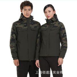 戶外衝鋒衣男女潮牌三合一兩件套冬季加厚加絨防風雪山定制登山服
