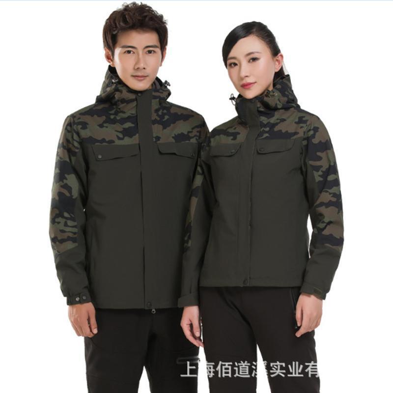 戶外衝鋒衣男女潮牌三合一兩件套冬季加厚加絨防風雪山定製登山服