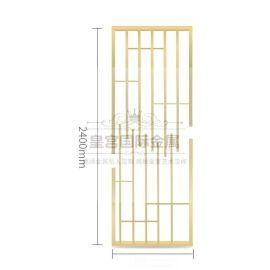 新中式不锈钢屏风定制 花格隔断 简约客厅屏风隔断