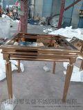 不鏽鋼藝術造型茶几 不鏽鋼茶几價格 來圖加工