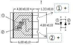 亿光IRR60-48C-L520-TR8血氧测试  发射管