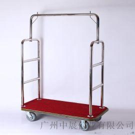 专业生产SITTY斯迪90.2007A镜光不锈钢手推行李车