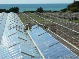 陕西文洛型智能玻璃温室大棚 果蔬花卉连栋玻璃暖棚骨架