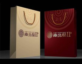 化妆品纸袋 白牛皮纸袋 服装购物袋 社区宣传袋 高端上档次纸袋厂