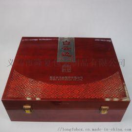 工厂定制仿古木盒 实木酒盒白酒包装盒