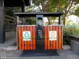 户外垃圾桶大号环卫垃圾筒室外小区公园木质环保垃圾箱金属果皮箱