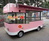 电动小吃车房车电动四轮多功能移动快餐车四轮流动售货车中巴餐车