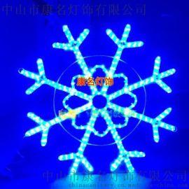 LED圣诞雪花灯 金色雪花造型灯 节日装饰灯