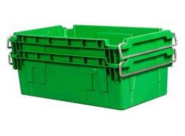 翻转套叠物流箱错位箱储物箱周转箱颠倒可堆箱粽子面包箱钢制提手