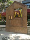 金属复古木纹板材,各种木纹转印板,古建筑环保材料