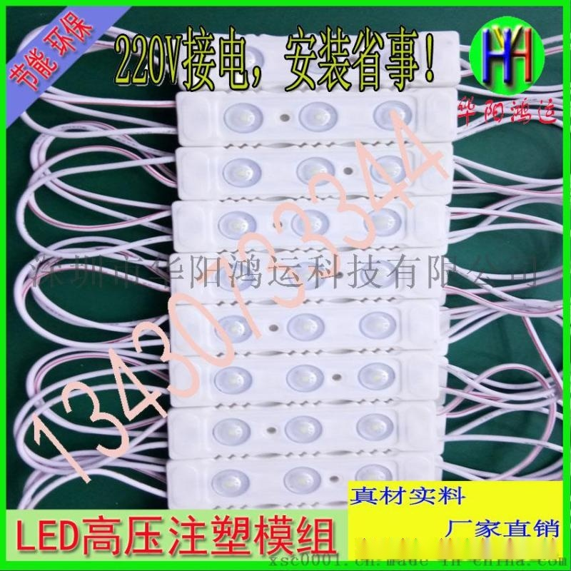 廠家直銷免驅動220V模組注塑ABS防火廣告燈高亮模組220v高壓模組