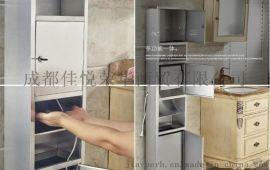 不锈钢304三合一擦手纸箱(带烘手器)