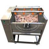 毛刷辊洗猪耳朵机器 洗猪肘子机器 猪头猪蹄清洗机