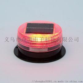太阳能警示灯 太阳能闪光灯 LED特亮频闪路障灯