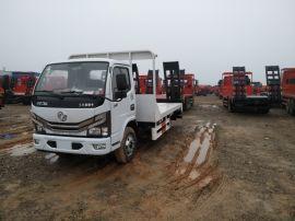 廣安重汽  單橋藍牌平板車可載10噸挖機可分期價格