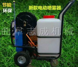 志成机械生产60升打药机四轮手推喷雾器拉管式打药车