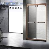 定制淋浴房隔断,一字形不锈钢玻璃移门家用沐浴屏