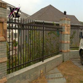 防护金属护栏@院墙防护栏杆@围墙锌钢护栏