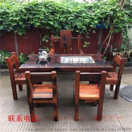 古船木茶几沙发茶艺桌餐桌吧台办公桌博古架