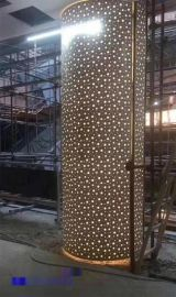 室内建筑包柱铝单板 木纹铝单板 冲孔铝单板厂家