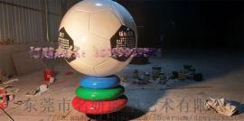 玻璃钢仿真足球卡通人物雕塑模型为世界杯喝彩