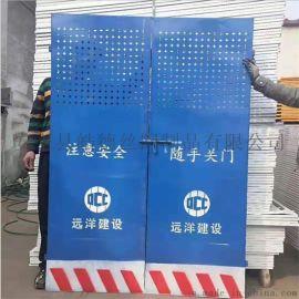 施工电梯防护门升降机安全门安全隔离防护网