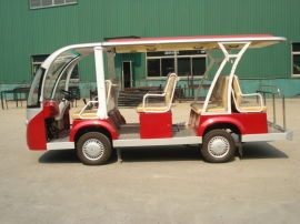 陕西汉中6-8座封闭式电动观光车,校园巡逻参观车,