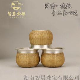 厂家供应足银999茶杯泡茶杯 手工茶具茶器可定制
