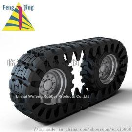 外包轮胎履带 全地形车履带包裹式橡胶履带