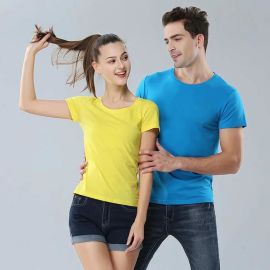 夏季工服精梳棉班服定制T恤文化广告衫短袖印字同学聚会工作衣服