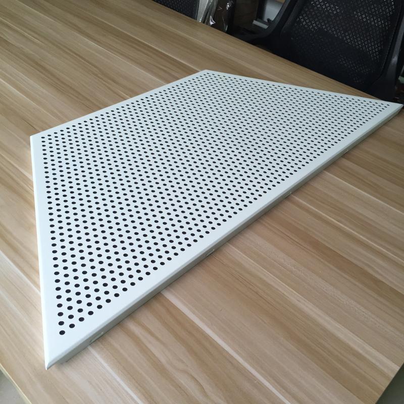 梯形衝孔鋁扣板  訂製造型衝孔鋁扣板天花吊頂 衝孔鋁扣板