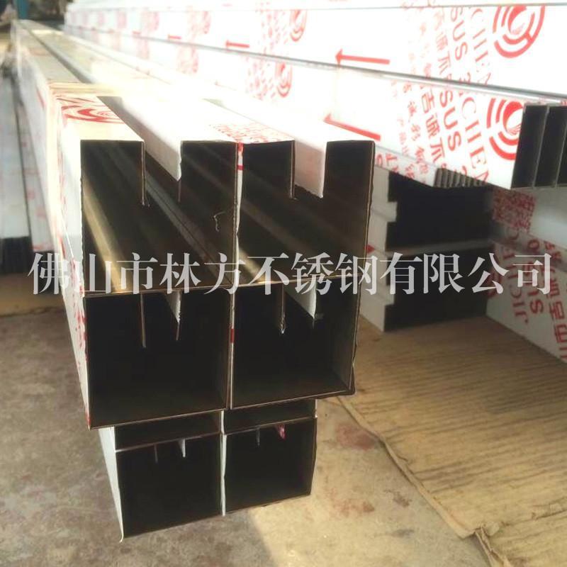 不锈钢U槽 U型卡槽 玻璃卡槽 彩色不锈钢门框线条 冲压成型工件加工厂家