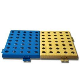 厂家供应幕墙氟碳冲孔铝单板规格孔径定制成型铝单板