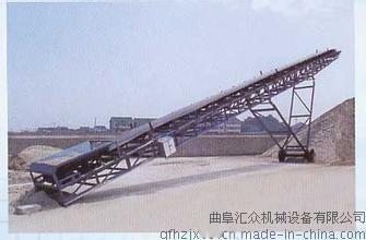 手拉升降皮带输送机 水泥袋用输送机 化肥输送机