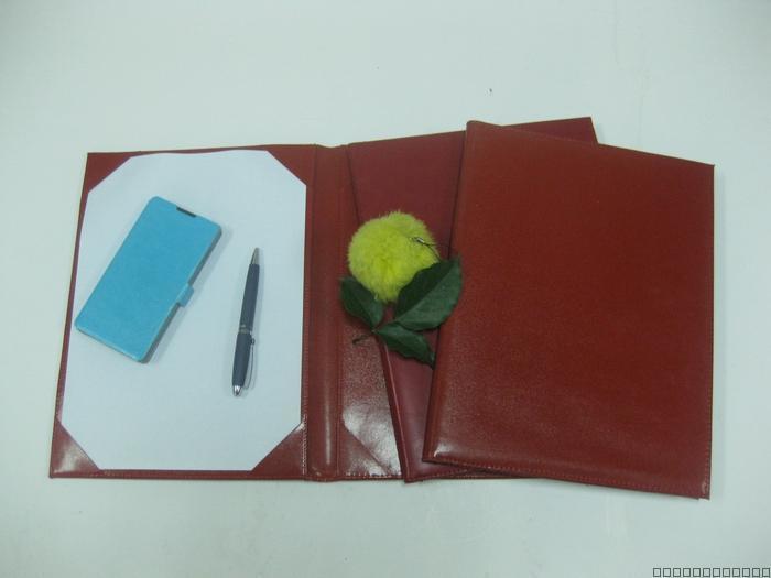 PVC红色合同夹, PU文件夹, 菜单夹, 活页经理夹