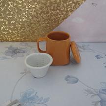定制国庆中秋礼品杯 日式韩式陶瓷茶隔杯 带盖茶漏杯 陶瓷方茶杯
