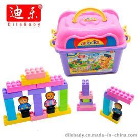 39块 桶装积木 益智玩具 环保无毒塑料
