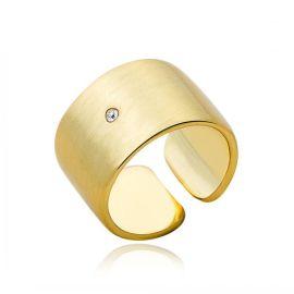 新品金色光面拉细沙开口戒指 土豪金戒指饰品批发 欧美  爆款