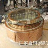 圆形玫瑰金201不锈钢KTV包房茶几 广州厂家