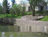 河道驳岸护坡格宾笼 堤岸格宾网防冲刷  双绞合PVC格宾石笼价格
