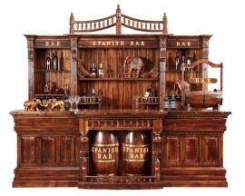 厂家直销室内户外实木酒吧吧台 仿古吧台酒柜