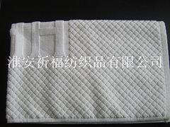 全白提花地巾(QF-DJ-021)