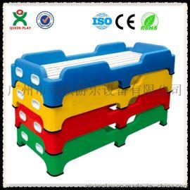 幼儿园用床 可折叠幼儿床 可折叠儿童床 幼儿园塑料床