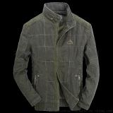 男式夹克 夹克批发 男士休闲水洗纯棉宽松立领外套