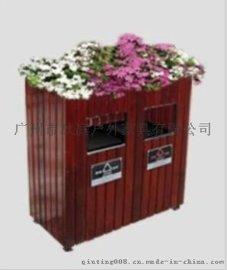 户外景观垃圾桶 户外订做垃圾桶厂家 钢木结构垃圾桶报价